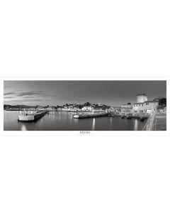 Vue sur le port Noir et Blanc