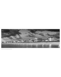 Les façades de la Grande Plage Saint Jean de Luz Noir et Blanc