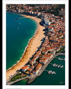 Saint Jean de Luz, vue aérienne de la plage